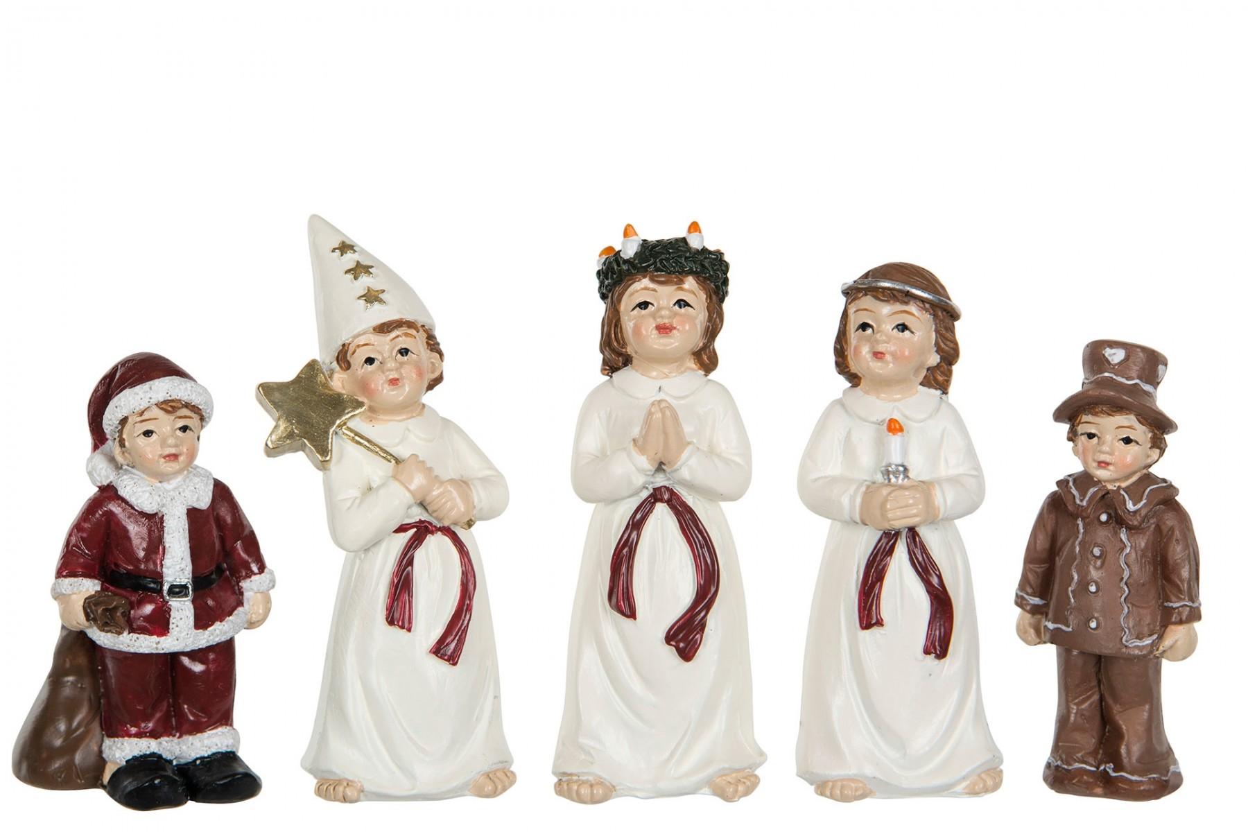 Luciatåg, 5 små figurer