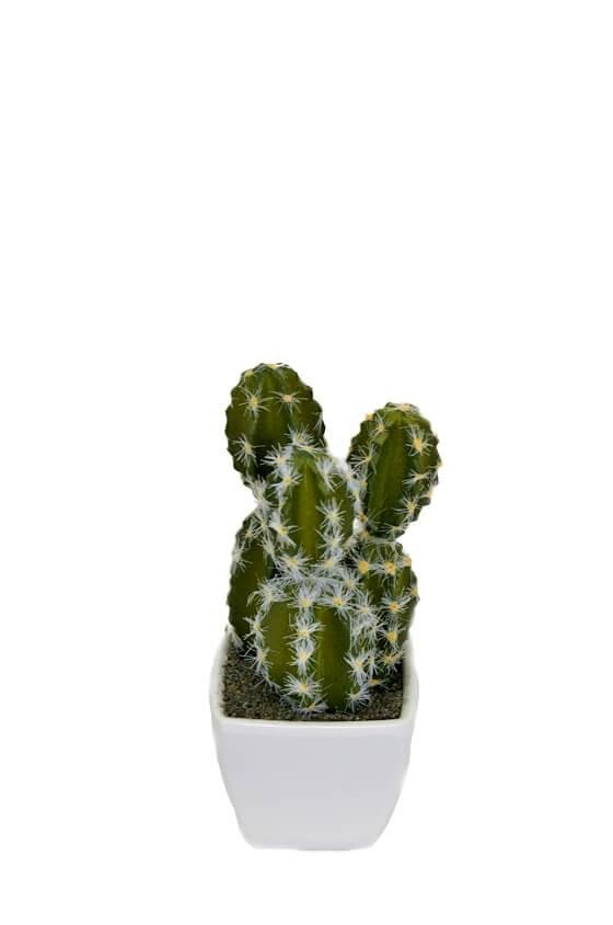 Kaktus, tredelad, mini, konstgjord