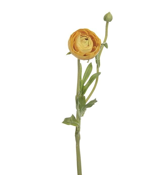 Ranunkel, gul, konstgjord blomma