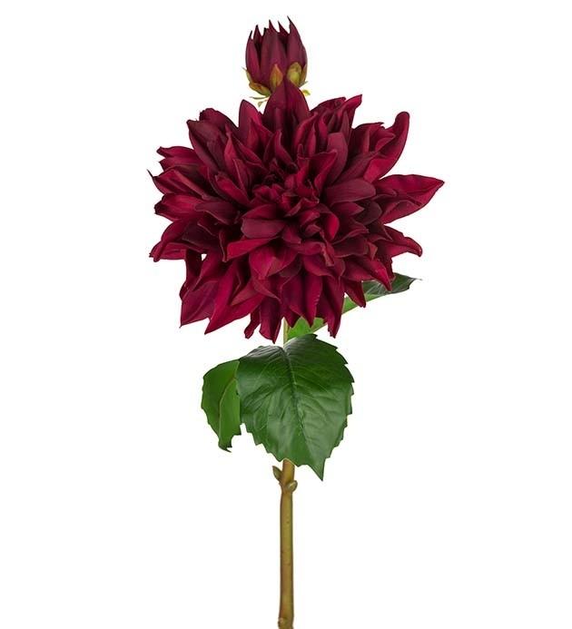 Dahlia, Real touch, vinröd, konstgjord blomma