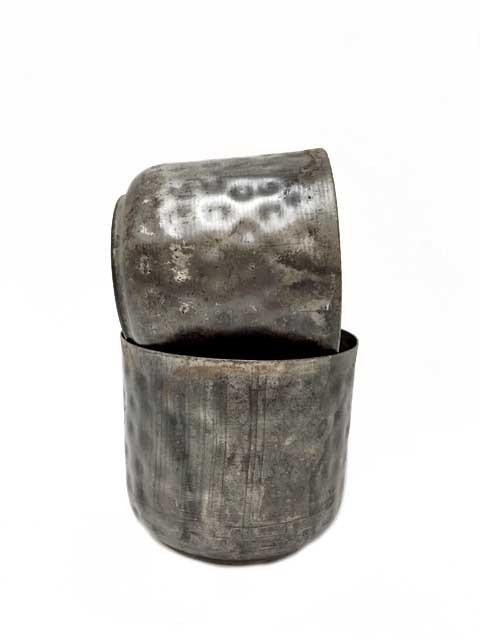 kruka Bim, mörk metall 2-set