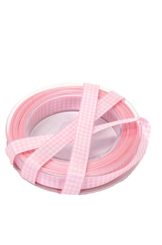 band rutigt, rosa