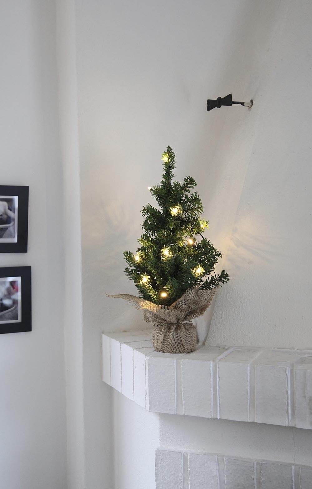 Gran, LED, 10 lampor, 45 cm, konstgjord