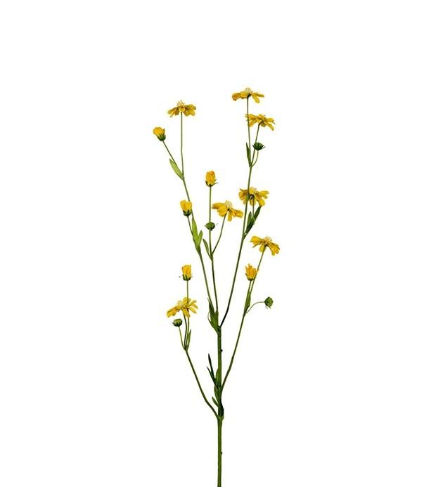 Rosenskära, cosmos, gul småblommig konstgjord blomma