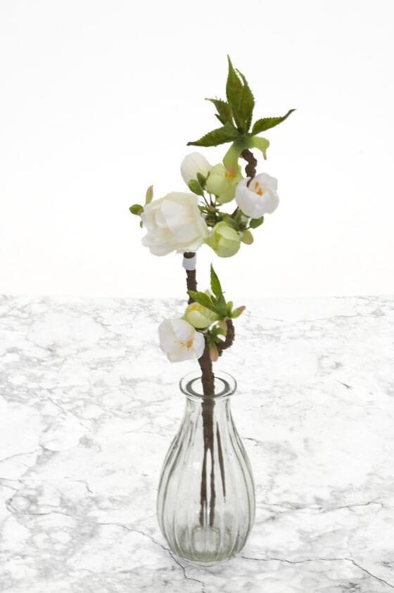 Äppelblom, vit, konstgjord kvist