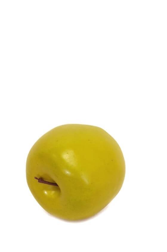 Äpple, gul grön, konstgjord frukt