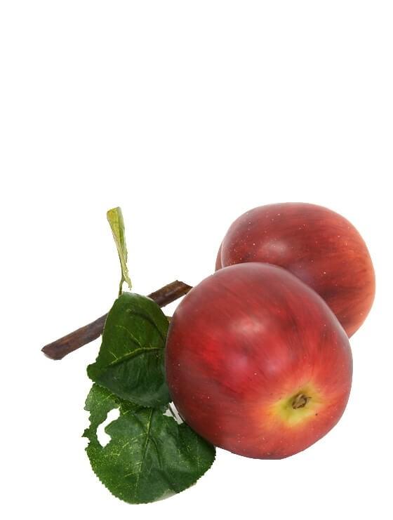 Äpple på kvist, röda, konstgjorda
