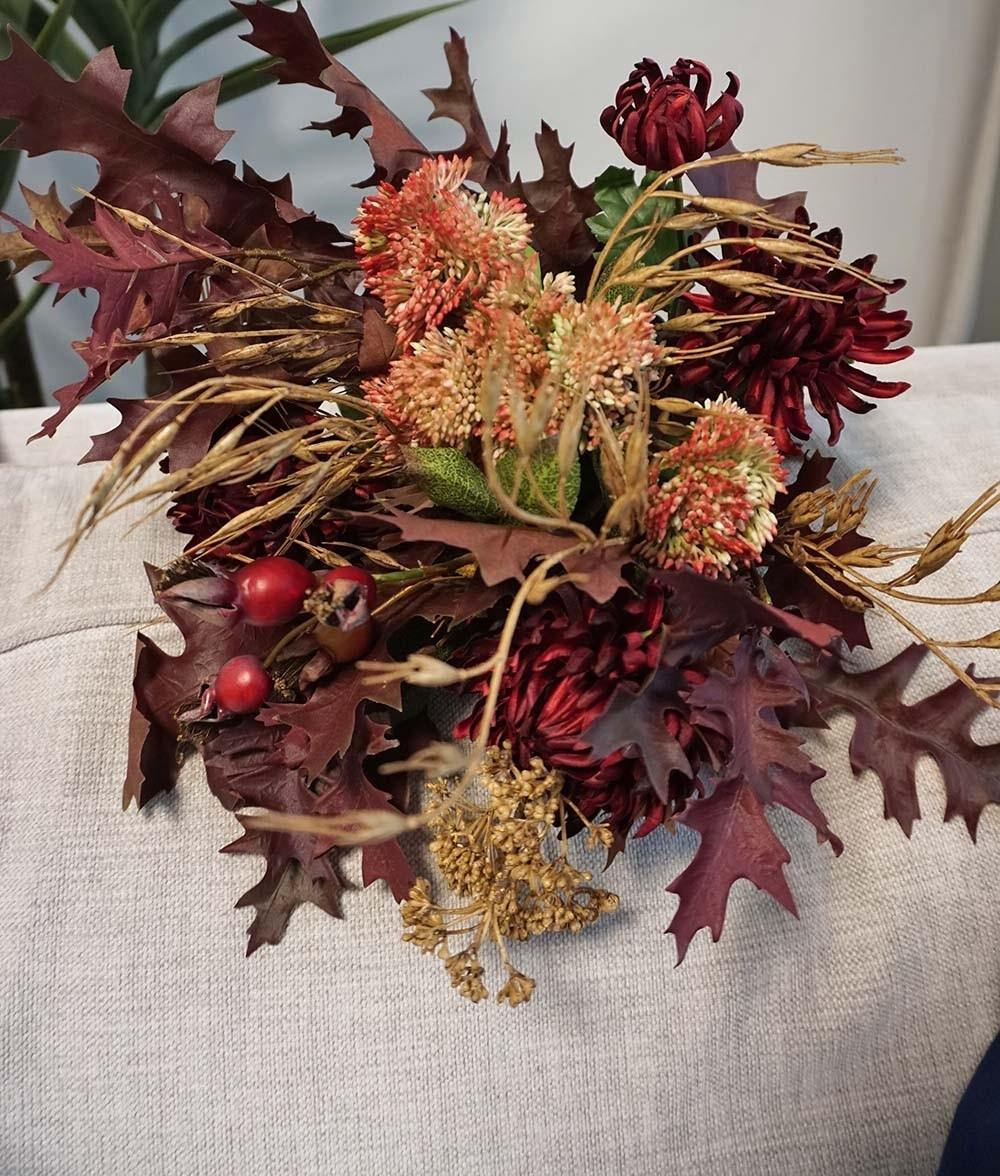 Bukett, Autumn love konstgjord handbunden