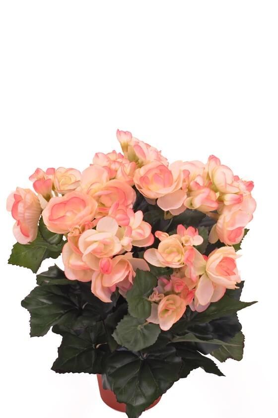 Begonia, ljus rosa, konstgjord blomma