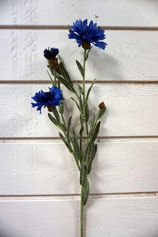 Blåklint, konstgjord blomma