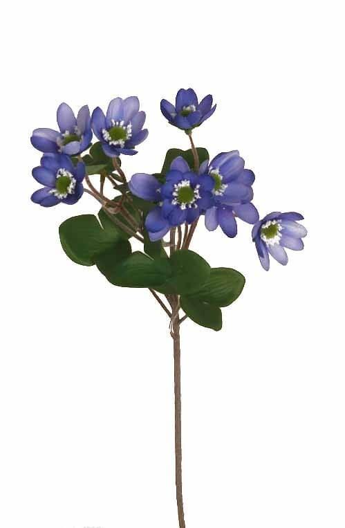 Blåsippa, konstgjord blomma