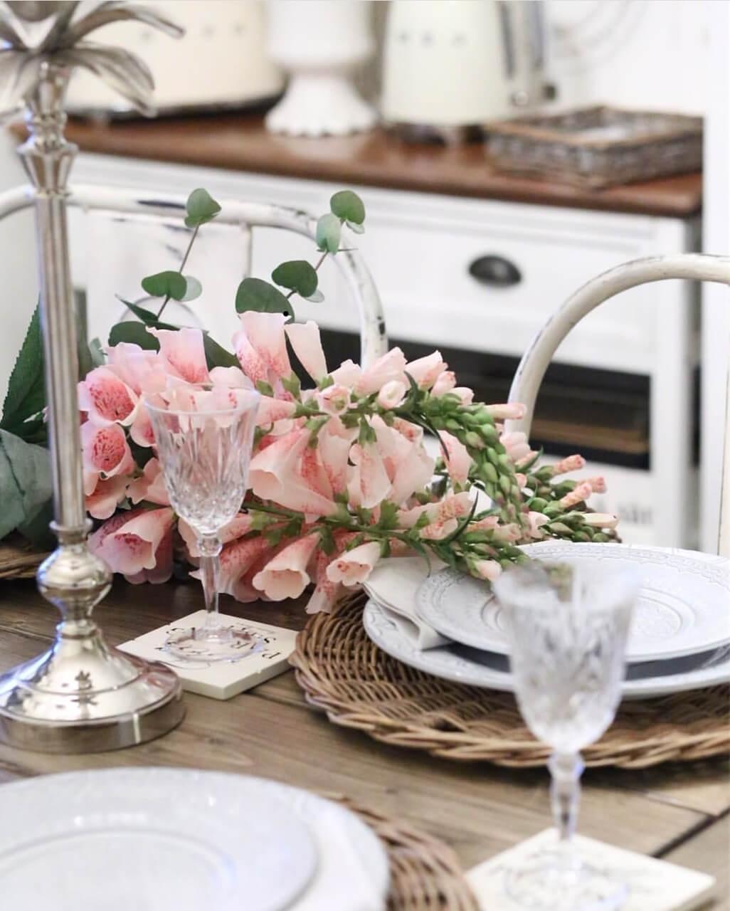 Fingerborgsblomma, rosa, konstgjord blomma
