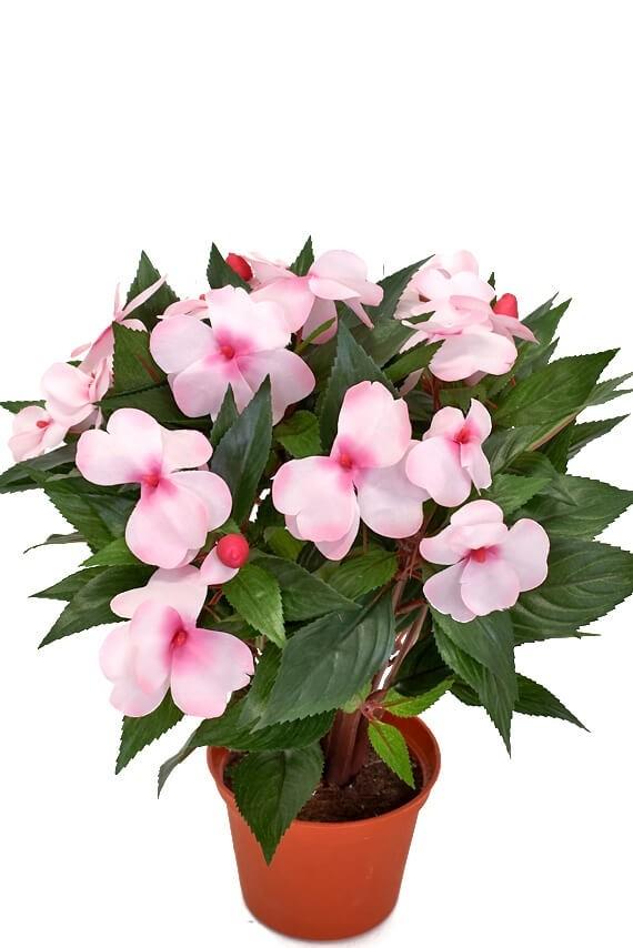 Flitiga Lisa, rosa, konstgjord krukväxt sommar