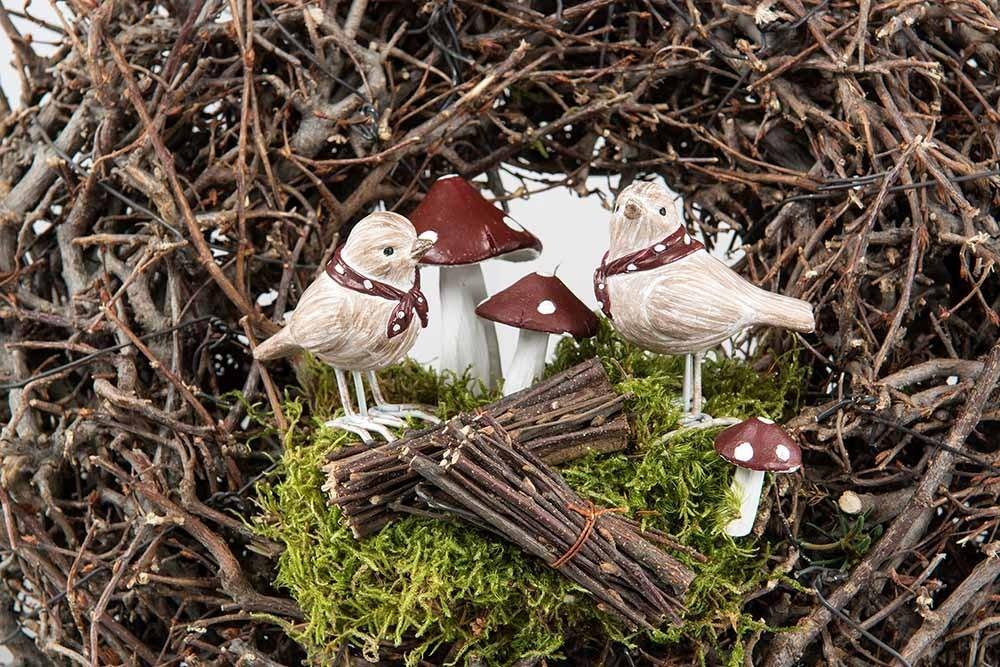 Flugsvamp, 2- pack, konstgjorda svampar