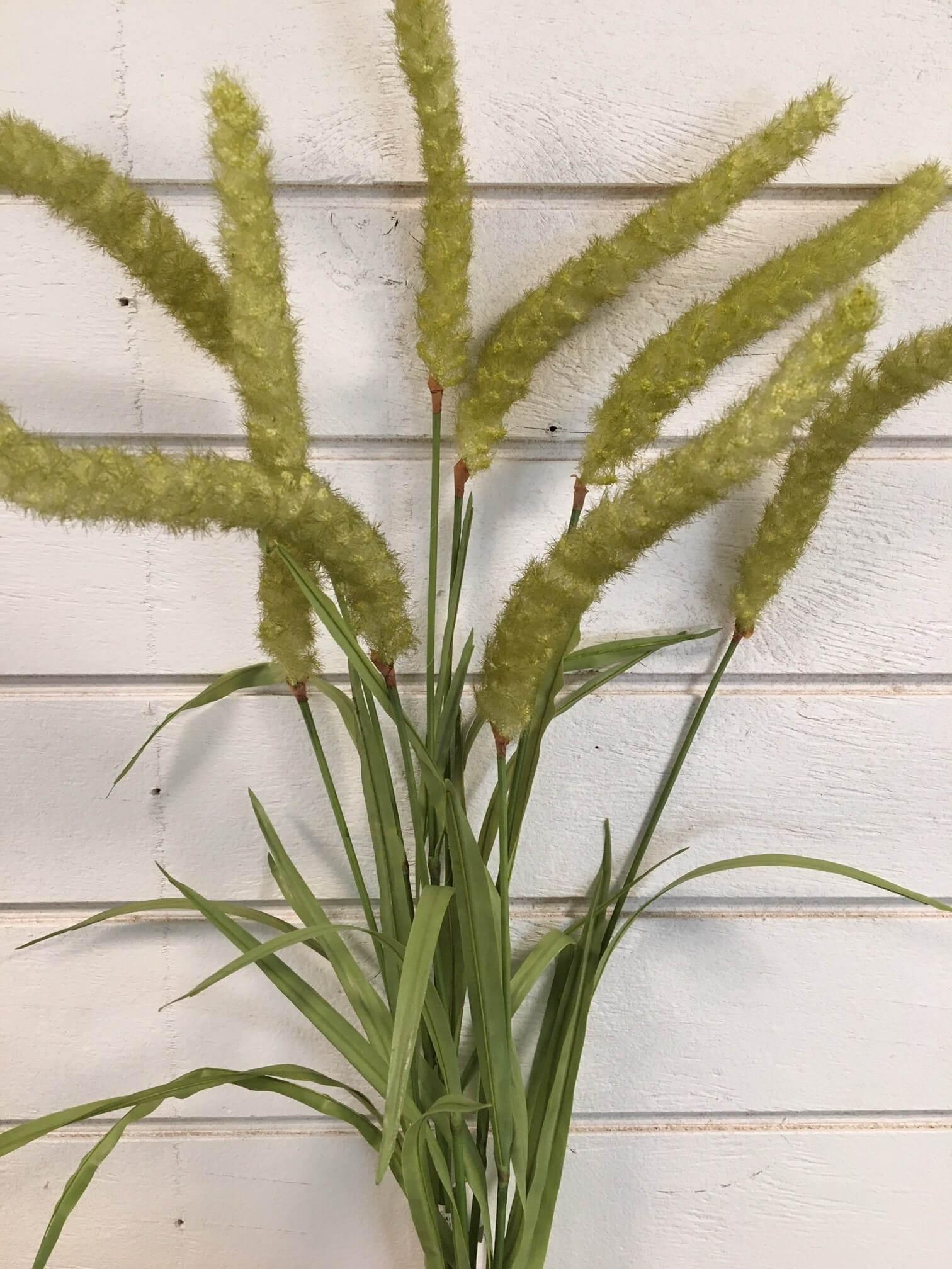 Gräs, ljust ax, konstgjord växt