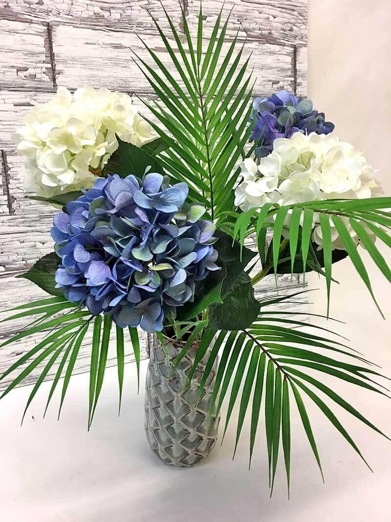 Hortensia, blå, konstgjord blomma