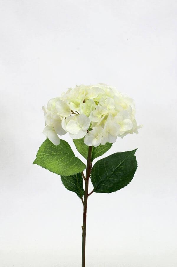 Hortensia, creme, konstgjord blomma