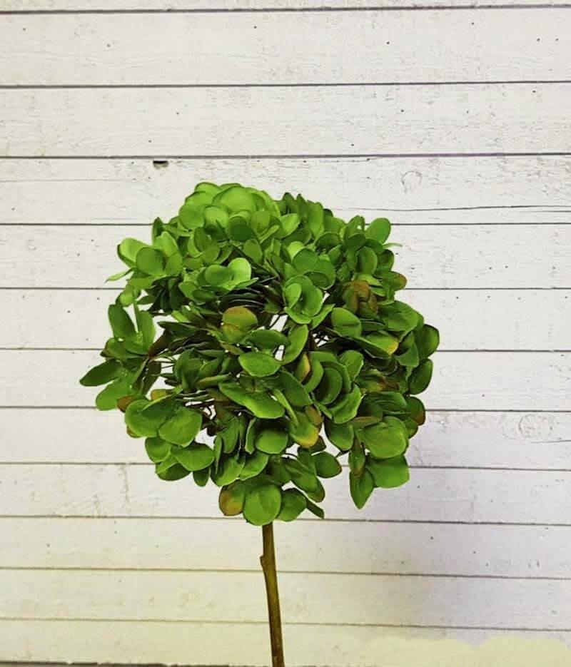 Hortensia, grön, konstgjord blomma