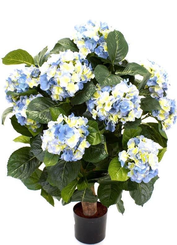 Hortensia på stam, blå, konstgjord