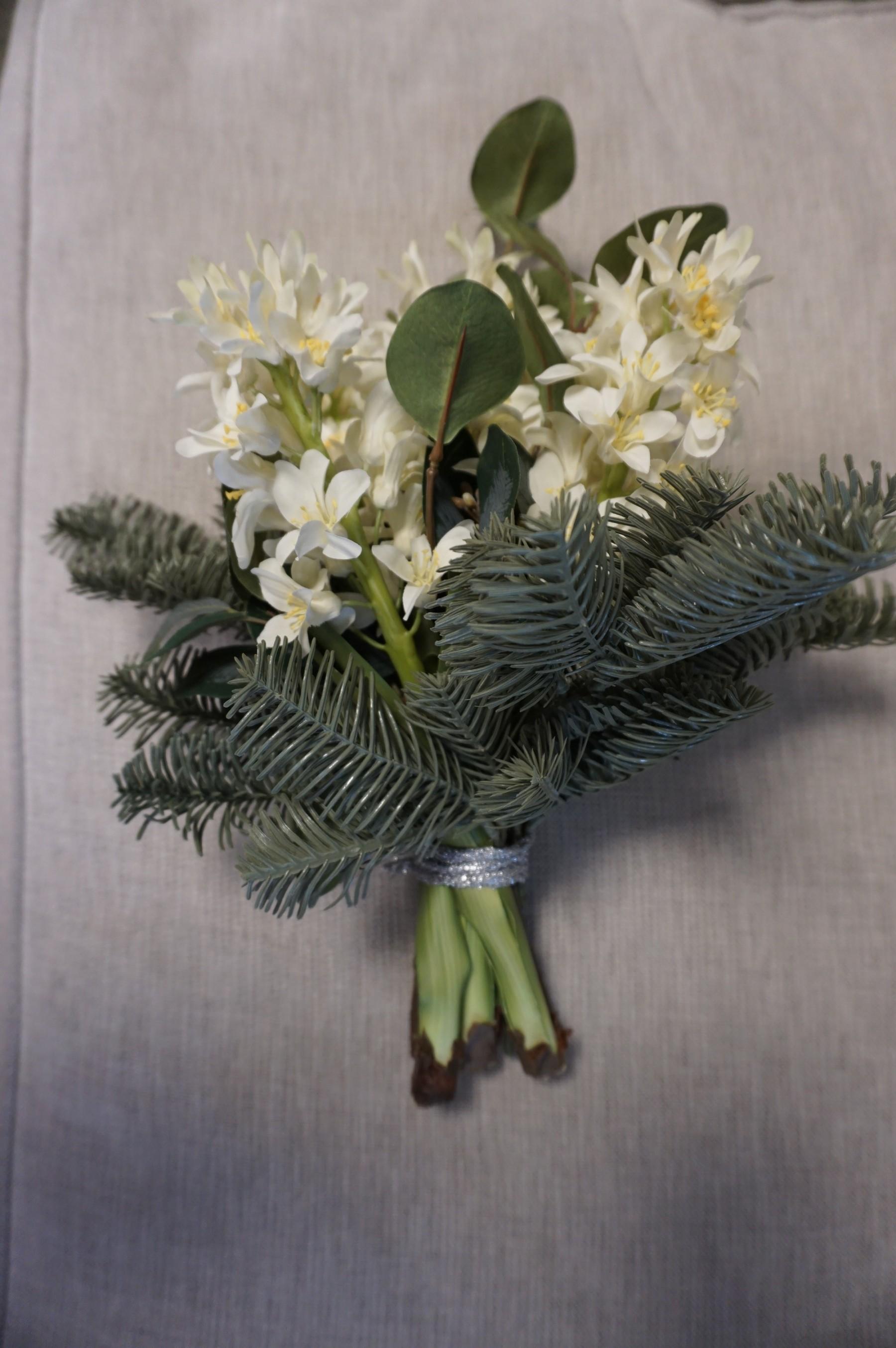 Silvergran, nobilis, konstgjord grankvist