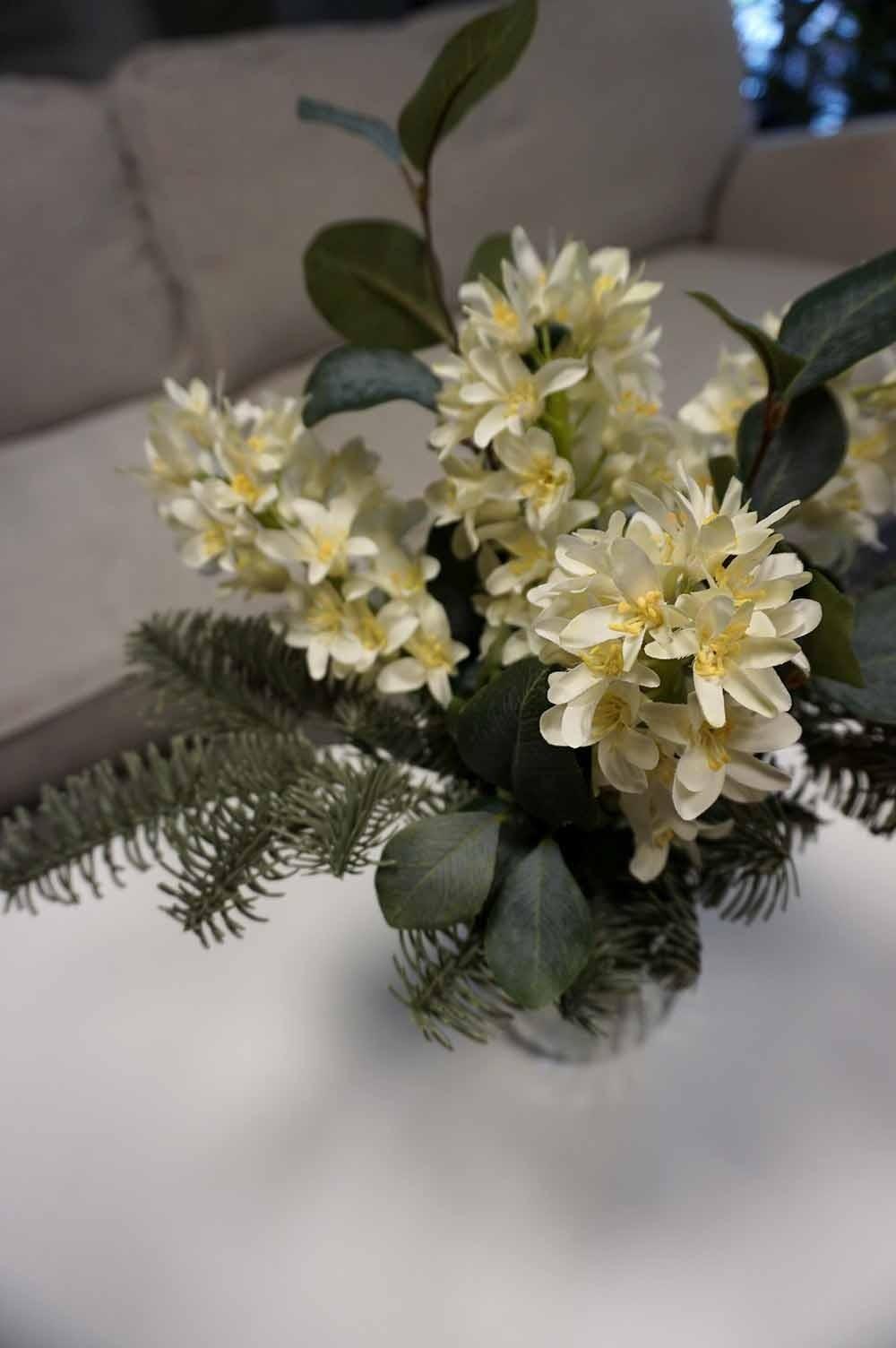 Bukett, doftfria hyacinter, konstgjord handbunden
