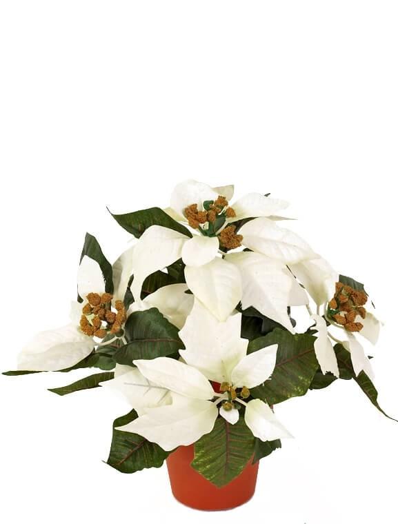 Julstjärna creme vit, konstgjord
