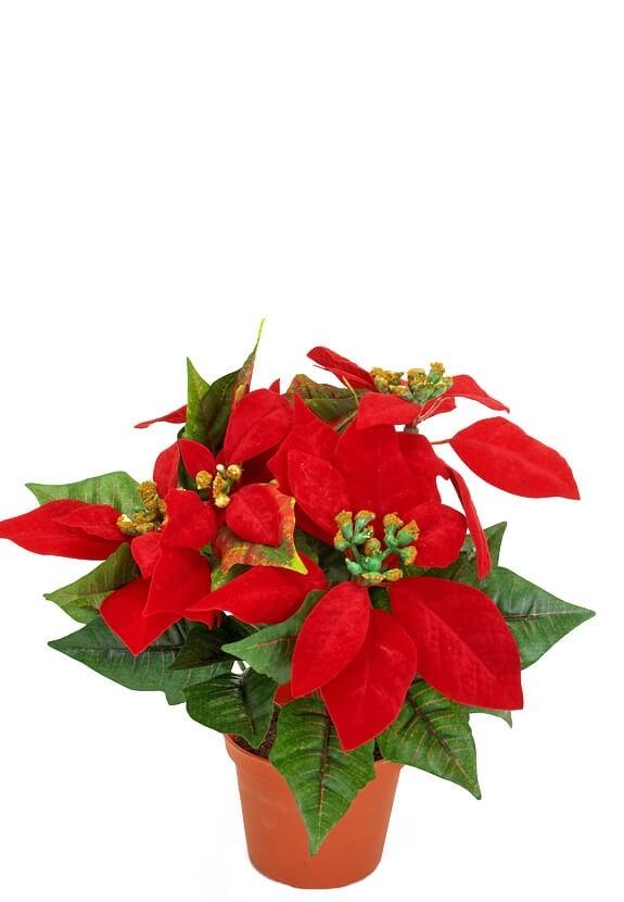 Julstjärna, röd, konstgjord