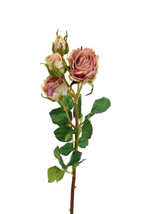 Kvistros, dimrosa, konstgjord blomma