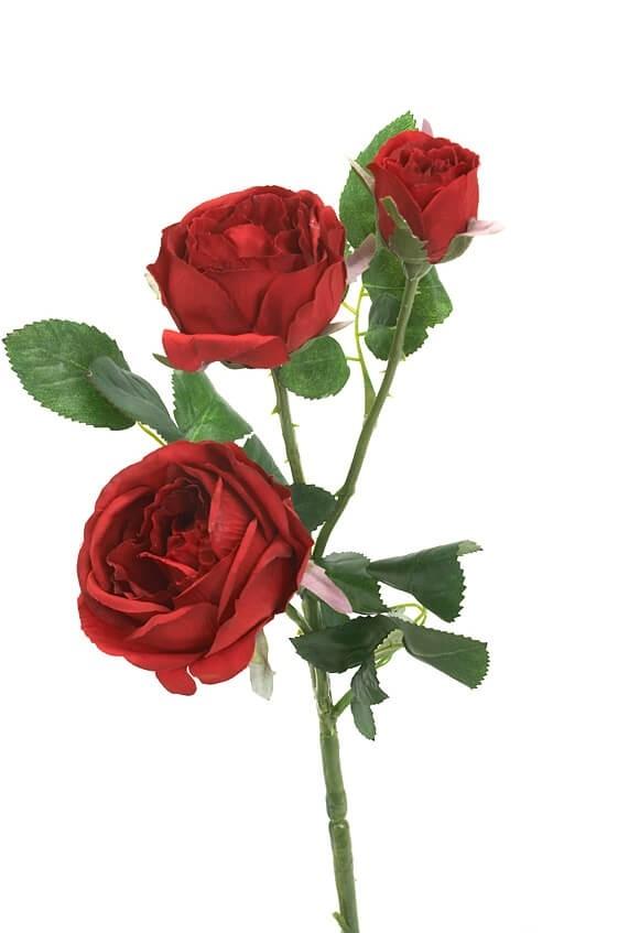 Kvistros, röd, Konstgjord blomma