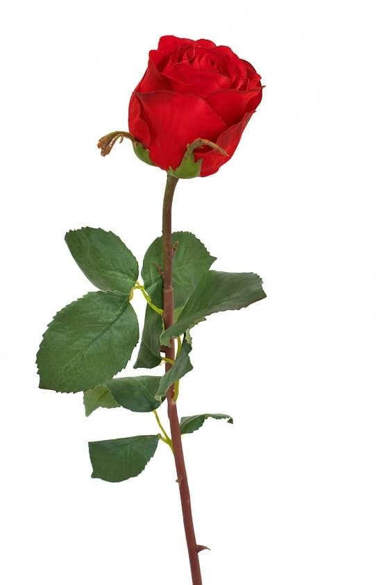 Ros, röd, konstgjord blomma