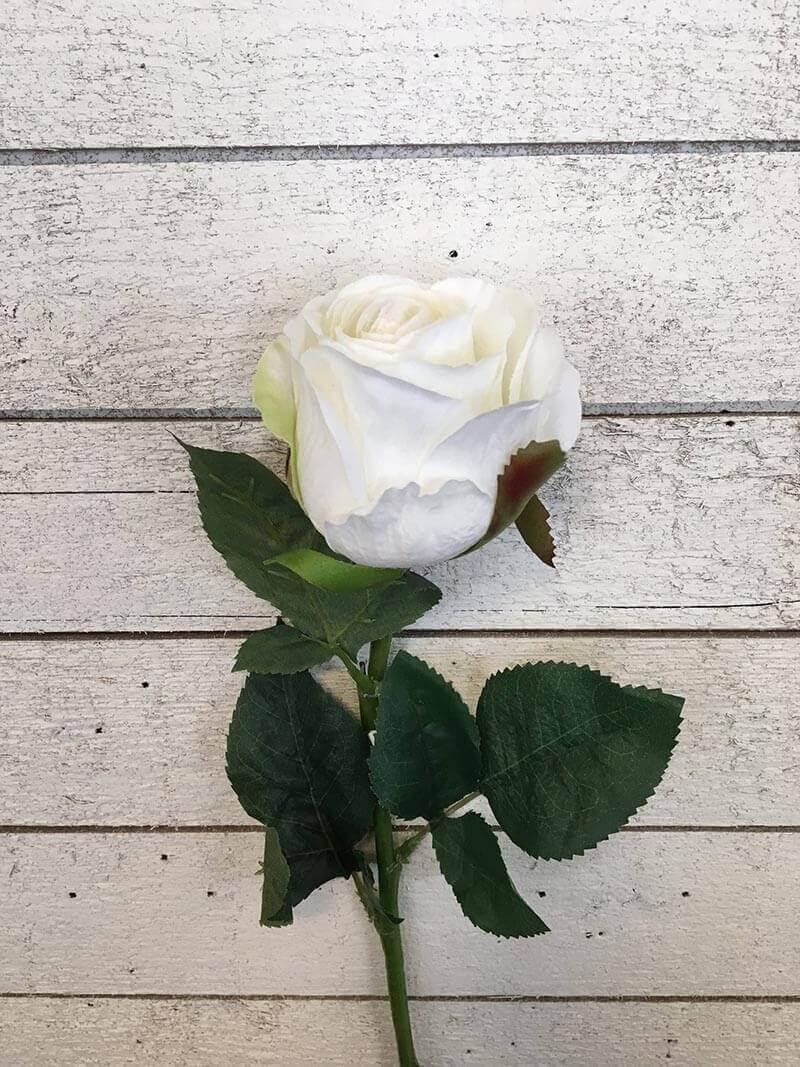 Ros, vit, konstgjord blomma
