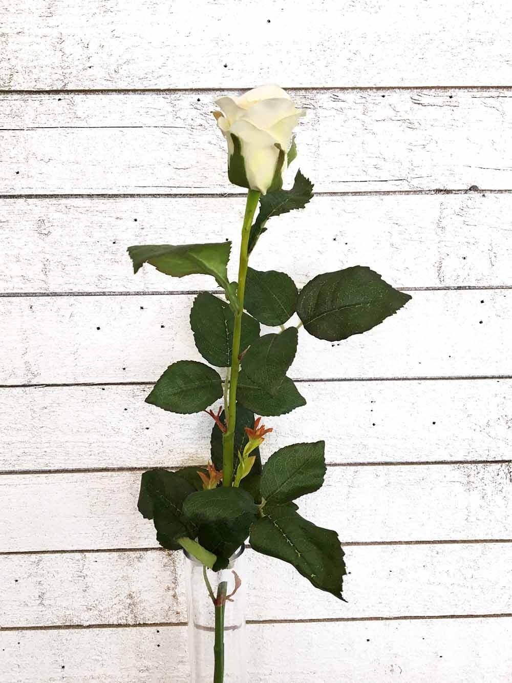Ros, creme, konstgjord blomma