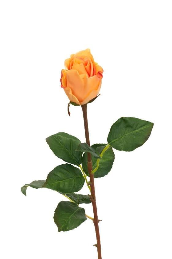 Ros, orange, konstgjord blomma