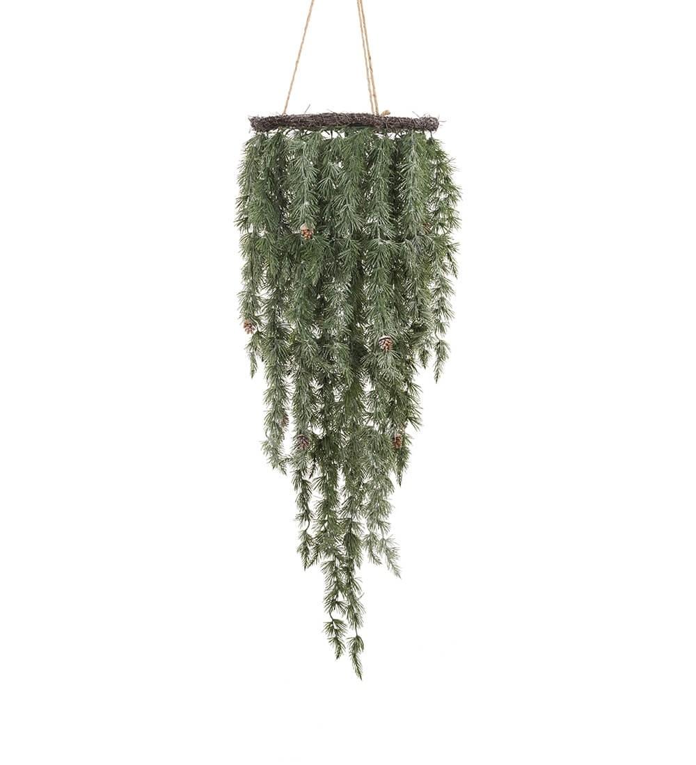 Lärkriskrona, frostig, hängande, konstgjord