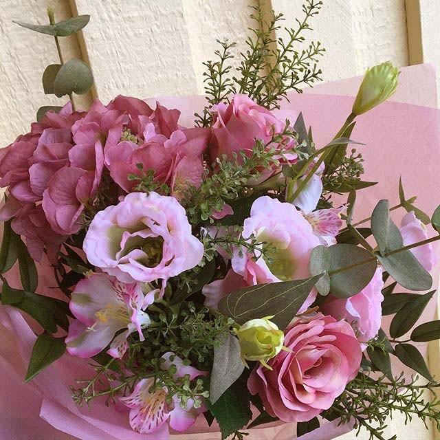 Prärieklocka, rosa, konstgjord blomma