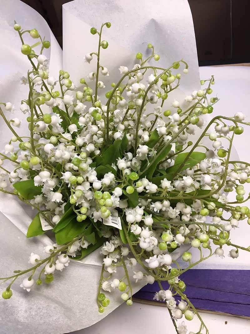Liljekonvalj, konstgjord blomma