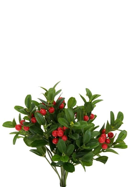 Lingonris, bunt, konstgjord växt