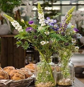 Lupin, vit, konstgjord blomma