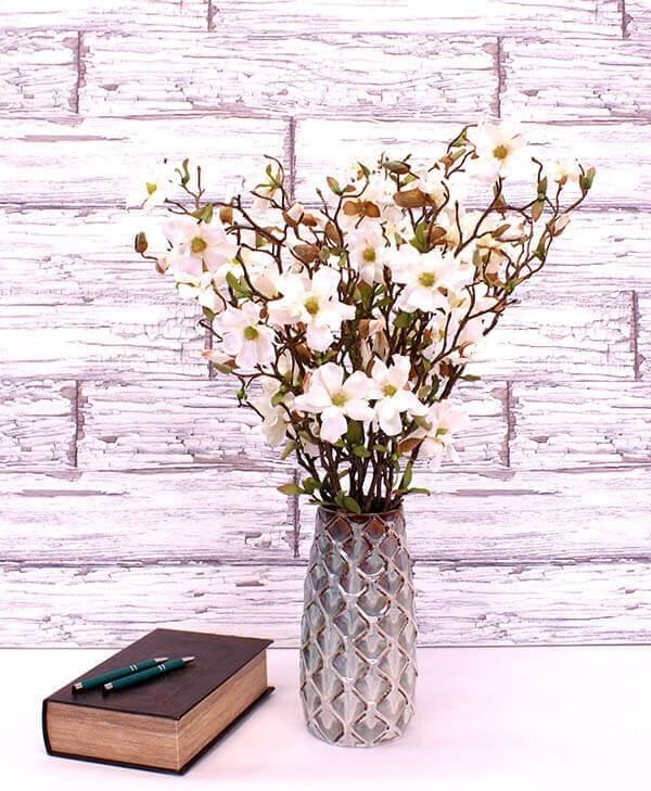 Magnolia, vit, konstgjorda blommor