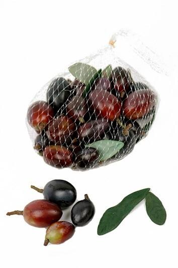 Oliver, vinröda, konstgjorda