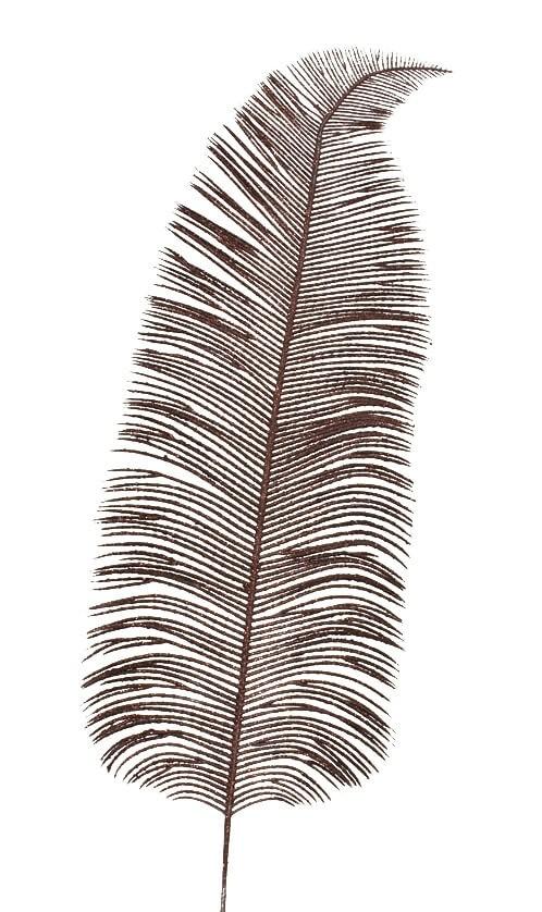 Palmblad glitter, svart