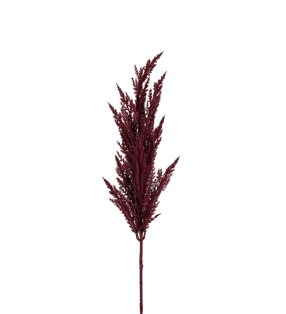 Pampasgräs, vinrött, konstgjort gräs