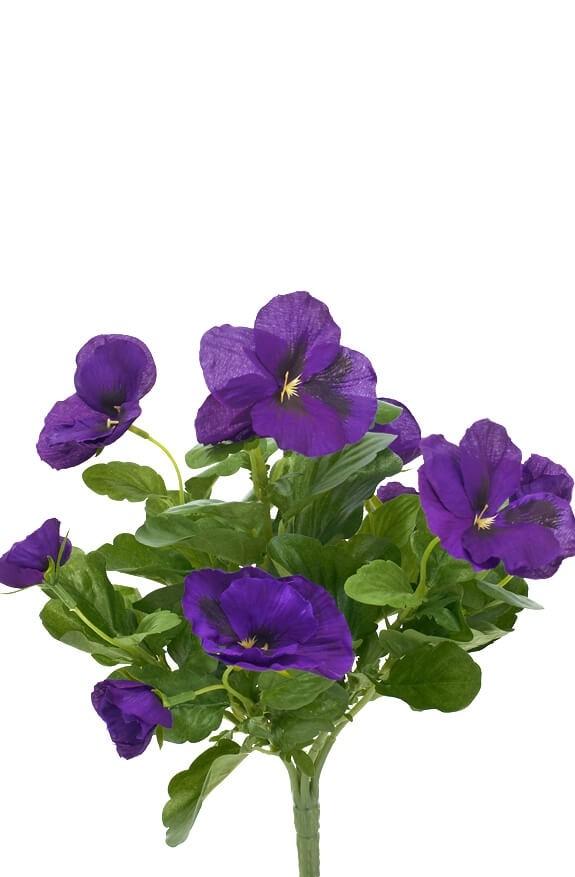 Pensé, blå, konstgjord blomma