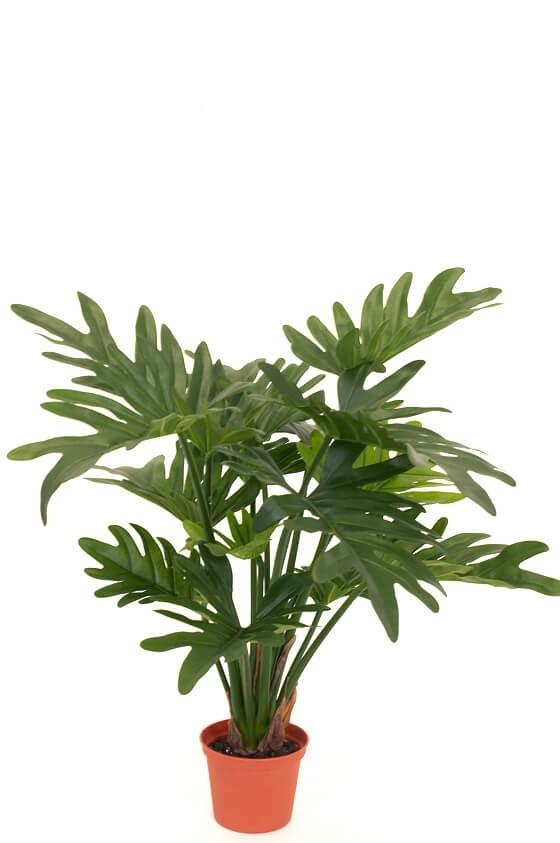 Philodendron, grön, konstgjord krukväxt