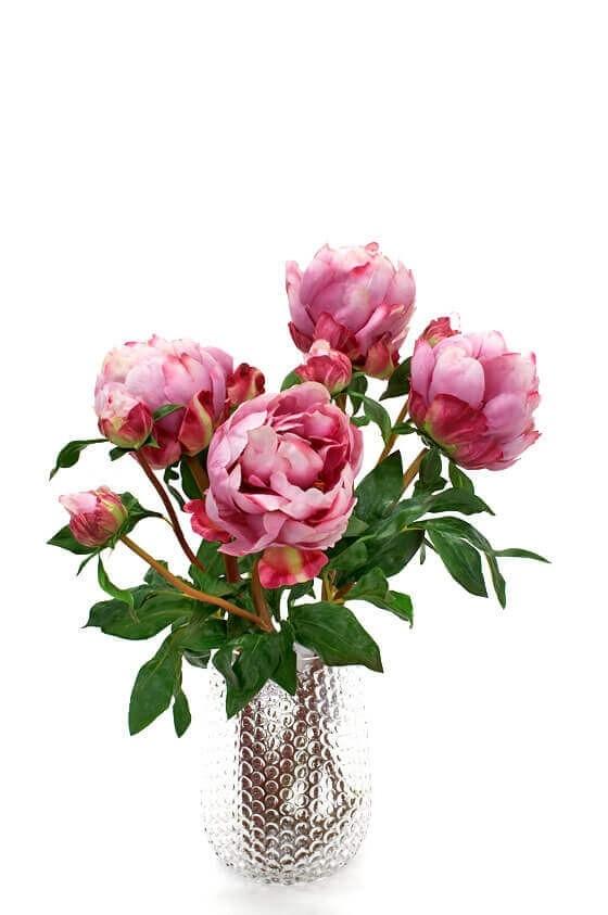 Pion, rosa cerise, konstgjord blomma
