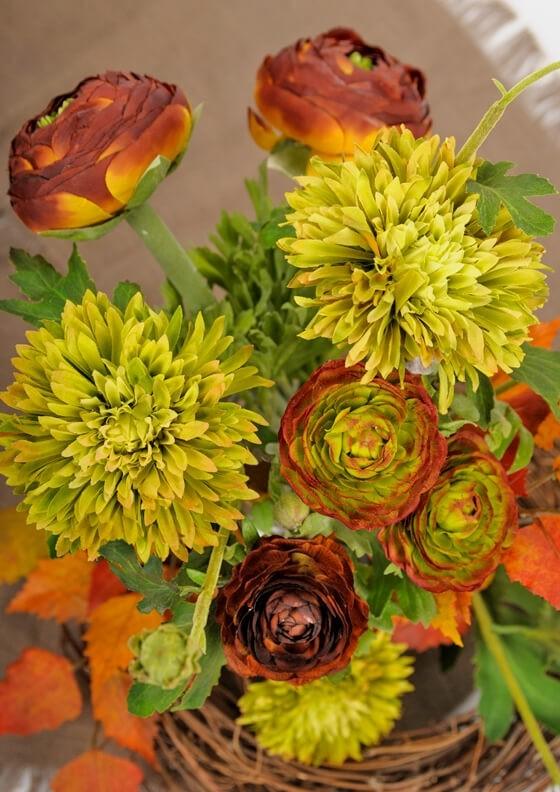 Ranunkel, rost, konstgjord blomma