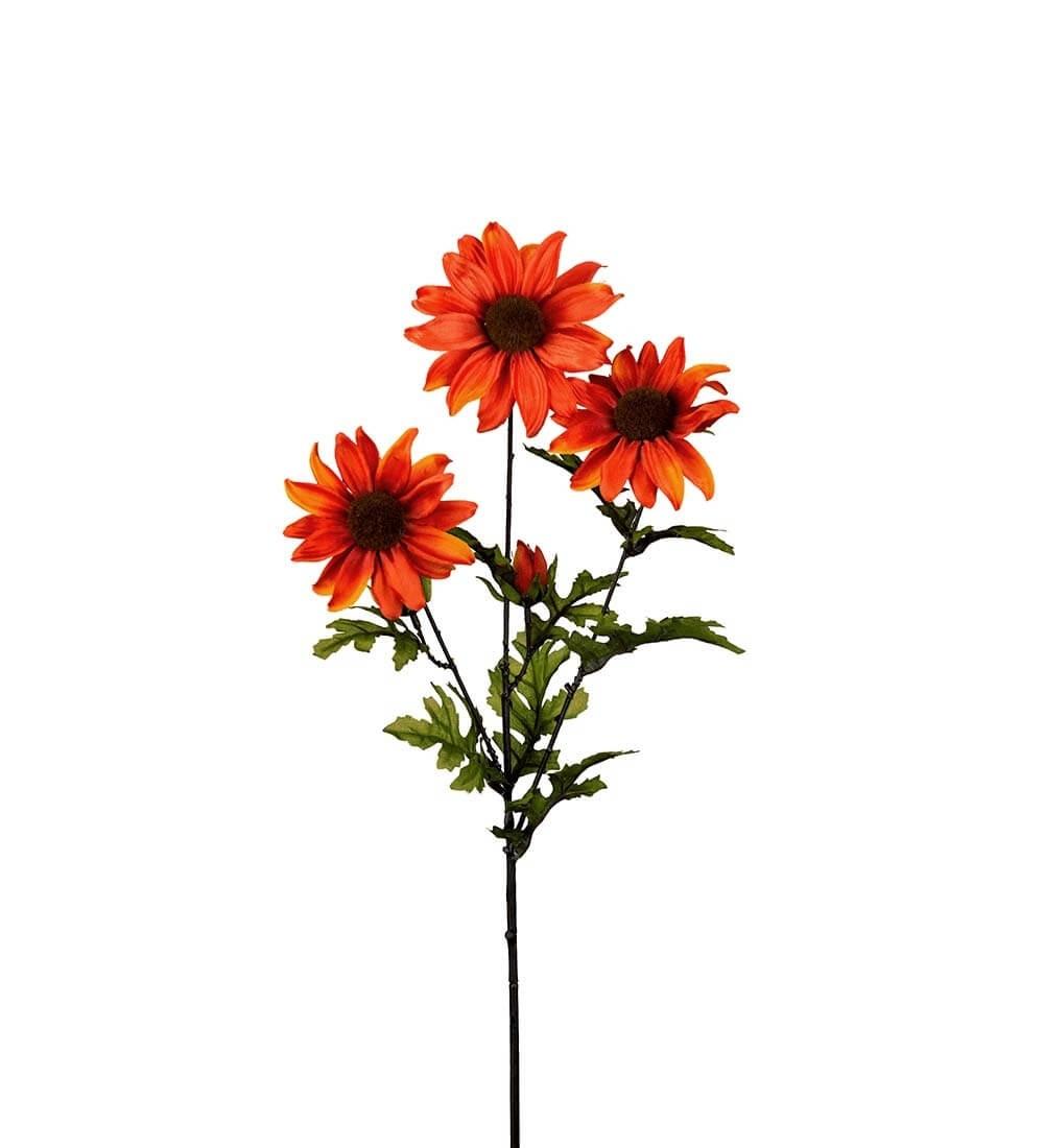 Rudbeckia, orange, konstgjord blomma