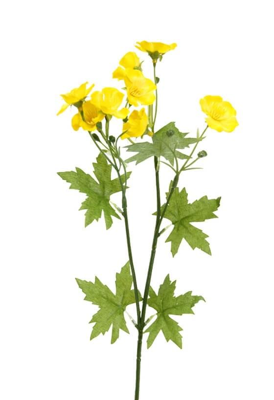 Smörblomma, gul, konstgjord blomma