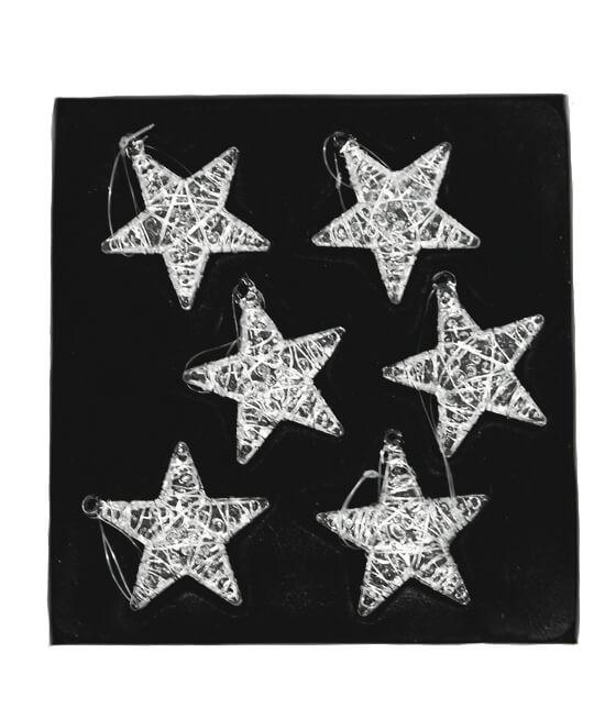 Stjärnor i glas, 6 st