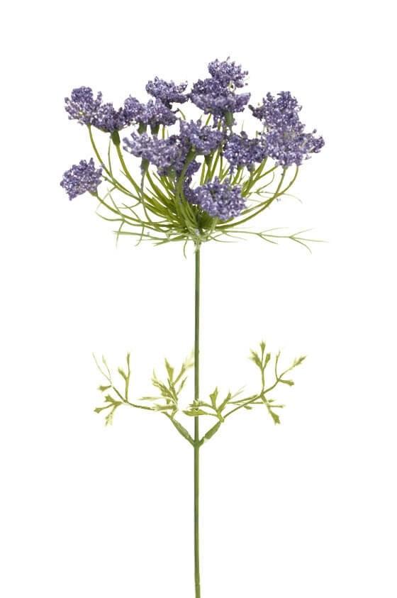 Trachelium, blå, konstgjord blomma